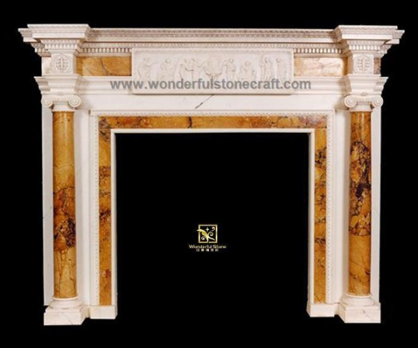 Buy Marble fireplaces Inlaid Fireplaces 01 at wholesale prices