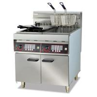 Quality Extra Large Double Basket Gas Chips Deep Fryer for sale