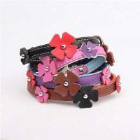 Quality Leather Flower Pattern Luxury Dog Collar-60577 for sale