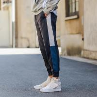 Buy cheap 2019 Custom Top Quality French Terry Cotton Side Stripe Color Block Drawstring Jogger Track Pants from wholesalers