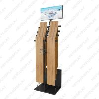China Simple modern wood floor display rack metal hanging showr on sale