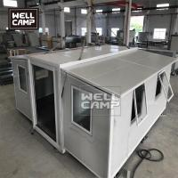 Buy cheap Wellcamp expandable prefab container house two bedrooms strong prefabricated modular homes from wholesalers