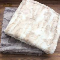 China 100%Polyester Brushed Printing PV Luxury Faux Fur Throw Blanket on sale