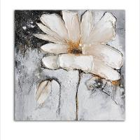 China White Flowers Oil Painting for Home Decor on sale
