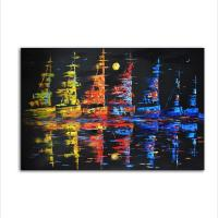 Quality Modern Knife Sail Boats Oil Painting for Bedroom Living Decor for sale