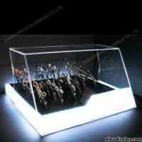 China GlowDisplay acrylic shears display case scissors display box for trade show booth with LED lighting on sale