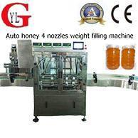 China Automatic Honey 4 Nozzles Weight Filling Machine on sale