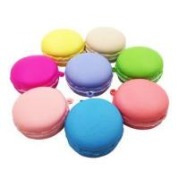 Buy cheap colourful kawaii super soft mesh ball macaron mini squishy with key chain from wholesalers