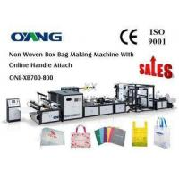 Quality Carry Bag Manufacturing Machine / Non Woven Bag Making Machine Approved CE for sale