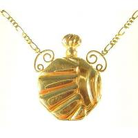 Buy cheap Extra Heavy 14k Gold Rising Sun Armed Keepsake Urn Pendant from wholesalers