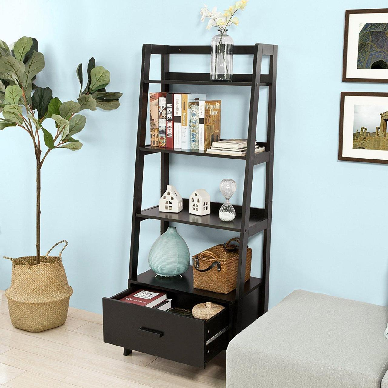 Buy cheap Rennes Ladder Shelf with Drawer from wholesalers