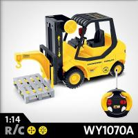 Quality 1:14 4-CH R/C FORKLIFT TRUCK (W/ LIGHT, SOUND) | WY1070A for sale