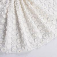 Buy cheap 1H2069 3D Flower finish embroidery design Cotton french lace fabric from wholesalers