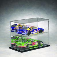 Quality Acrylic Display Case Dustyproof Box With Hardwood Black Base For Model Cars for sale
