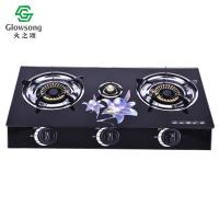 Quality Tempered Glass Panel Gas Stove SGB-04 for sale