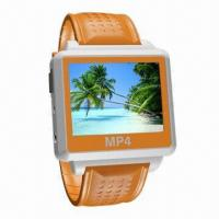 Quality Flash MP4 Player Watch with Firmware Upgradeable, Supports MTV Format and 5h Continue Video Playing for sale